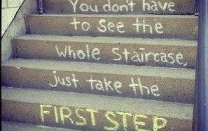 Start 2016 off right by taking the first step to whatever your goal for this year is!
