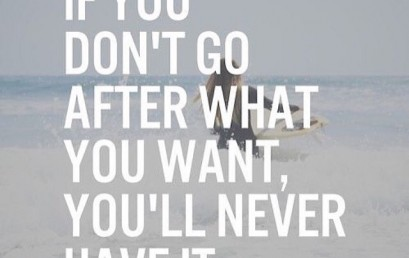 Don't let anything hold you back! Will you go after what you want today? #hsorg
