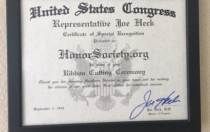 Very honored to receive this special recognition from Congress during our ribbon cutting ceremony! #throwback #honorsociety
